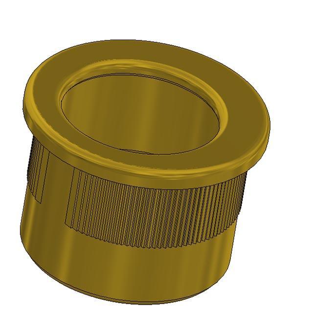 Maniglia di trascinamento d 29 mm - oro lucido
