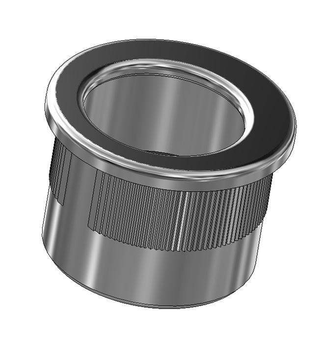 Maniglia di trascinamento d 29 mm - cromo satinato