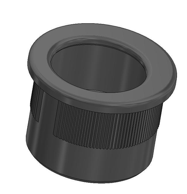 Maniglia di trascinamento d 29 mm - nero