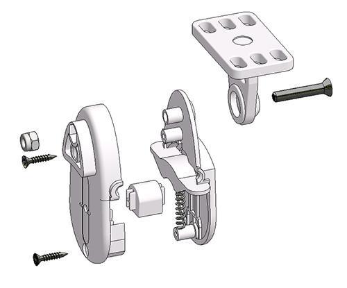 Tendicatena singolo per fissaggio a parete o pavimento atp
