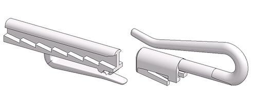 Gancio proboscide regolabile lugano 28 mm esploso