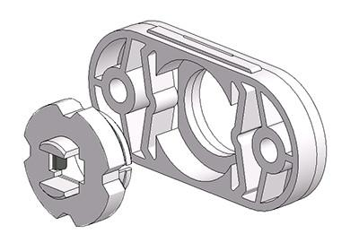 rosetta ovale 30x60 mm 4 scatti rasata con ferro regolabile
