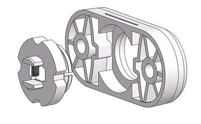 rosetta ovale 30x65 mm 4 scatti rasata con ferro regolabile