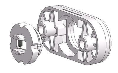 rosetta ovale 30x65 mm 4 scatti sporgente con ferro regolabile