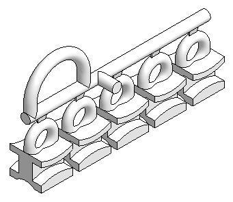 Scorrevoli scivoli in carricatore da 5 pezzi per binario U