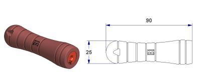 *Tool handle – B1 -, with conical holed bushing from 2 to 4 mm*