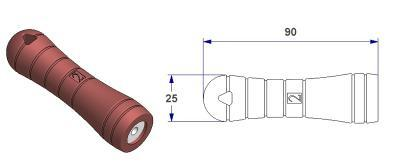 *Tool handle - 2 -, with self-tapping bushing hole M5 - M6*