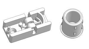 Cord drop guide with rollers and bushing