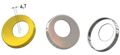Bocal d 50x7(0,8) mm, furo KK (kaba) d 26 mm