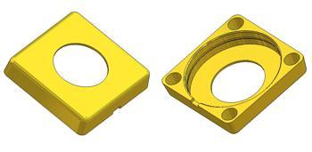 *Square rose 53x53x11 mm, hole d 24 mm*