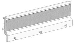 Profile with velcro for panel blinds (rods of 240 cm)