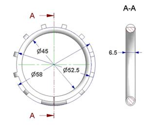 Ring liner d 45x58 mm