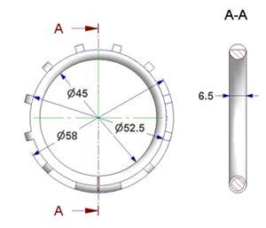 Anillo silenciador d 45x58 mm