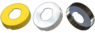 Rosette d 52x10(0,8) mm, FB hole (free-engaged handwheel)