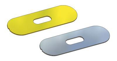 Bottom for oval and rectangular flush pull 39x125(1,0) mm, OB hole (oval), for sliding door