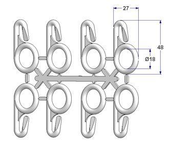 Anel 48x27 mm com ilhó aberto (série de 8 anéis)