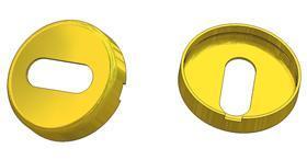 Key rosette d 35x8(0,8) mm, OB hole (oval)