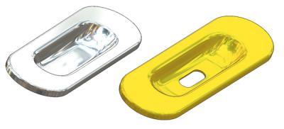Single piece oval flush pull 39x125(1,0) mm, for sliding door