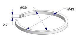 Ring liner d 39x43 mm