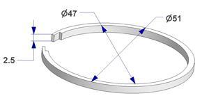 Ring liner d 47x51 mm