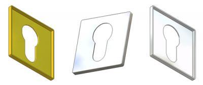 Key rosette 50x50x3,5(0,8) PZ hole