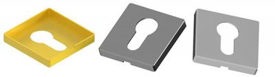 Vierkantige Schlüsselrosette 50x50x7(1,0) mm, PZ Lochung (Yale)
