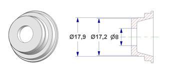 Centralização d 8x18 mm, para PZ com lingueta
