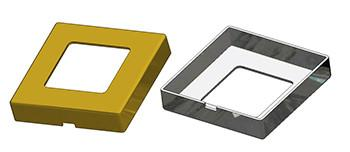 Square frame 50x50x10(1,0) mm, square hole 28 mm