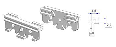 =Chariot noyau 4,5 mm, pour profile en -U-=
