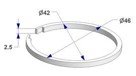 Ring liner d 42x46 mm