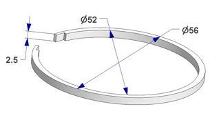 Ring liner d 52x56 mm