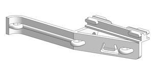 Croisement noyau 4,6 mm, pour rail en -U-