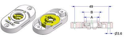 [|I|T|A]Rosetta ovale 30x60 mm, foro -A- d 16 mm, collo -B- d 21 mm, con molla destra-sinistra, per maniglia fresata[|/|I|T|A][|E|N|G]Spring-loaded oval rosette 30x60 mm, hole -A- d 16 mm, neck -B- d 21 mm, for milled lever[|/|E|N|G][|D|E|U]Ovale Rosette 30x60 mm Lochung -A- d 16 mm, Hals -B- d 21 mm, links-rechts Feder, für eingefrästen Griff[|/|D|E|U][|F|R|A]Rosace ovale 30x60 mm, trou -A- d 16 mm, col -B- d 21 mm, ressort droite-gauche, pour poignée fraisée[|/|F|R|A][|E|S|P]Roseta ovalada 30x60 mm, agujero -A- d 16 mm, cuello -B- d 21 mm, muelle derecha-izquierda, para manilla fresada[|/|E|S|P][|P|O|L]Rozeta owalna 30x60 mm, otwór -A- d 16 mm, szyjka -B- d 21 mm, ze sprężyną prawe-lewe, do uchwytu frezowanego[|/|P|O|L][|P|O|R]Arruela oval 30x60 mm, furo -A- d 16 mm, gola -B- d 21 mm, com mola direita-esquerda, para puxador moído[|/|P|O|R][|R|U|S]Spring-loaded oval rosette 30x60 mm, hole -A- d 16 mm, neck -B- d 21 mm, for milled lever[|/|R|U|S][|T|U|R]Spring-loaded oval rosette 30x60 mm, hole -A- d 16 mm, neck -B- d 21 mm, for milled lever[|/|T|U|R][|A|R|A|B]Spring-loaded oval rosette 30x60 mm, hole -A- d 16 mm, neck -B- d 21 mm, for milled lever[|/|A|R|A|B][|C|I|N]Spring-loaded oval rosette 30x60 mm, hole -A- d 16 mm, neck -B- d 21 mm, for milled lever[|/|C|I|N]