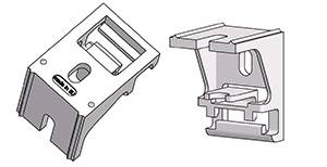 Wall-ceiling bracket for flexible and coilable I rail FLEX-I