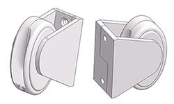 Oval chain tensioner for wall mount