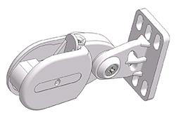 Single chain tensioner for wall or floor mount