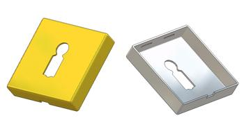 Square key rosette 50x50x10(1,0) mm, BB hole (german)