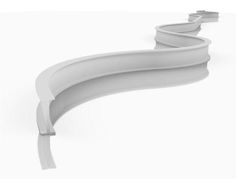 Flexibile en buigbare gordijnrails voor campers, caravans, trucks, truckcabines, bussen, autobussen, voertuigen
