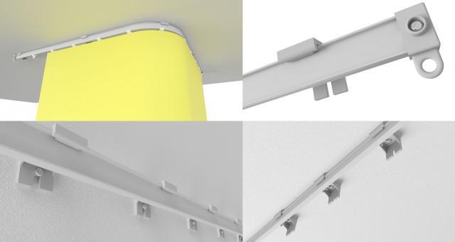 Flexibile en buigbare I rail voor gordijnen voor trucks, caravans, campers, bussen, autobussen