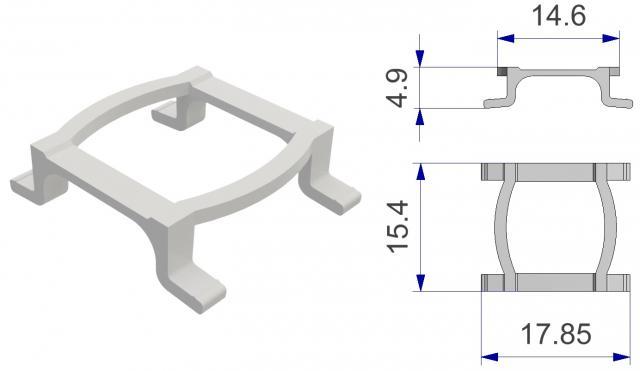 Brake for gliders for aluminium curtain rails track Rem voor glijder voor aluminium gordijnrails