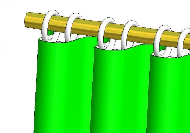 barras decorativas barra decorativa cortinas cortina cortinados efecto ola olas perfectas anillas anilla tringle tringles tube decorative rideaux rideau anneaux anneau draperie quincaillerie vagues vague wave