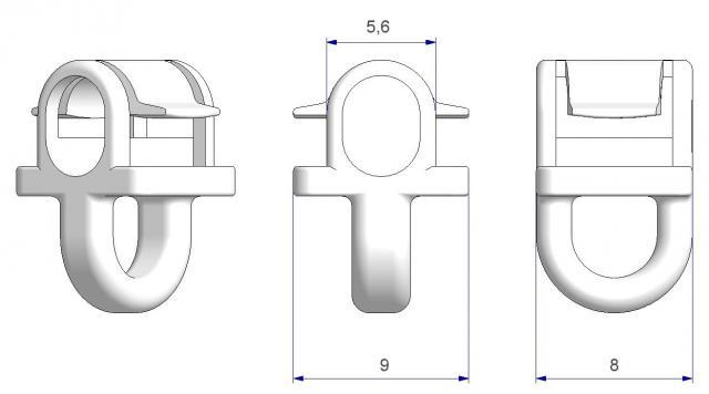Scorrevoli con aggancio a scatto click clic per binari scorritenda con cava larga atp italia accessori per tende tendaggi interno scorrevoli scivoli sistema scorritenda binari profili alluminio