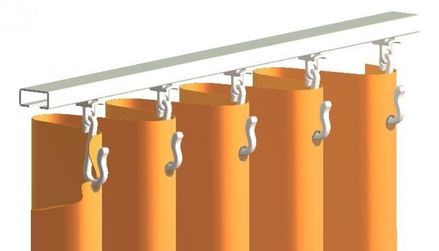 confection rails rideau suspension rideaux de douche avec oiellets profils aluminium glisseurs curseurs agrafes crochets hospital gliders scorrevoli scivoli binario alluminio profilo sistemi scorritenda