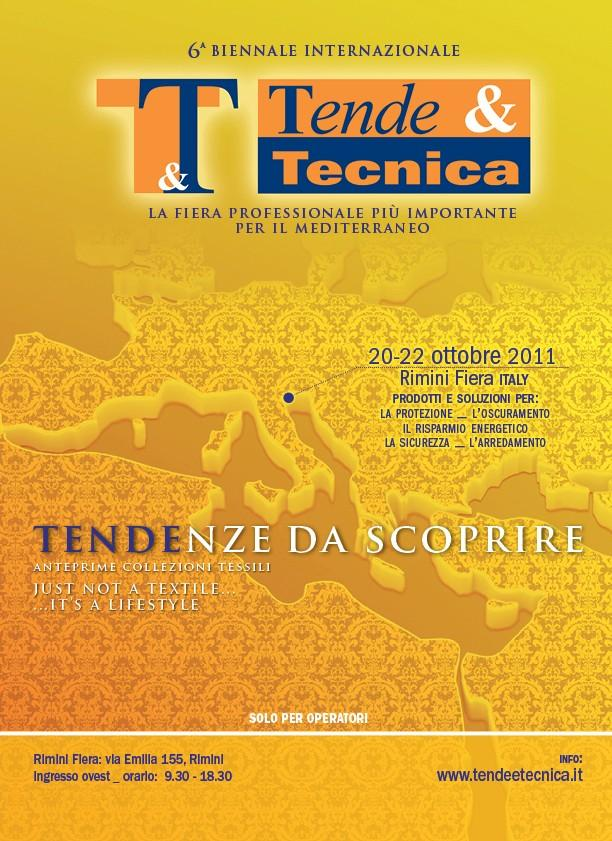 Fiera T&T Tende & Tecnica Rimini accessori per tende tendaggi interno e tende a pacchetto rullo