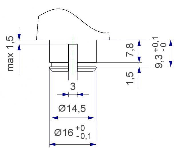 Rosetta quadra con molla di ritorno per aggancio a scatto reversibile della maniglia per porta