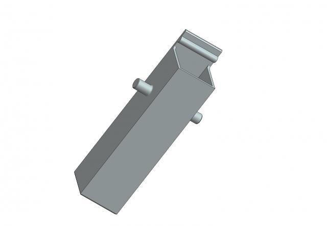 Riduzione per regolazione lunghezza ferro rosette con movimento DK per maniglie per finestre