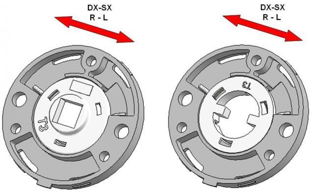 Door handle rosettes with integrated return spring mechanism