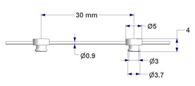 Corda distanziatrice con passo 3 cm per tende con effetto ad onda corda con scorrevoli corda con perno perni bottoni decorazione tendaggi wave effect