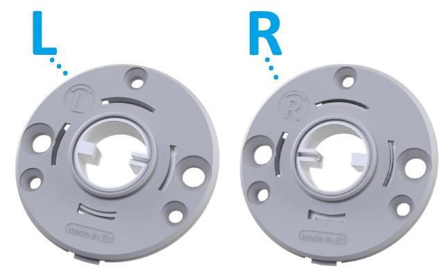 Rosetas redondas d 50x5mm com mola unidirecional