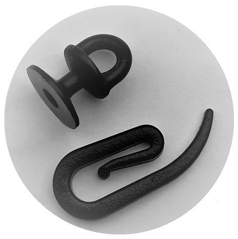 Curtain accessories in black colour